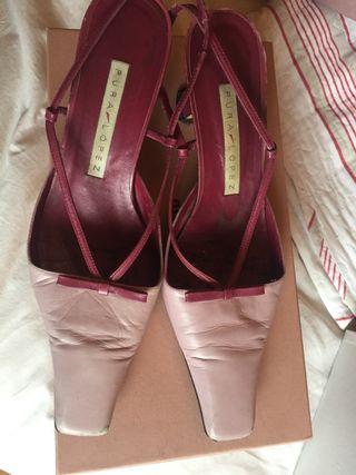 Zapatos de piel rosa palo