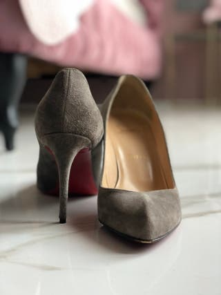 Christian Louboutin grey suede shoes