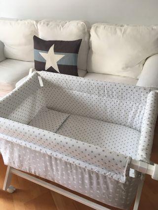 Mini cuna para bebé (estructura + vestimenta)