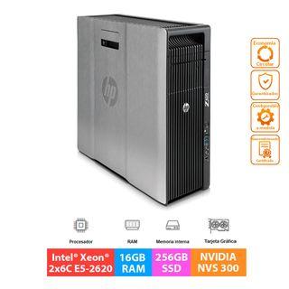 HP Z620 - Xeon 2x6C E5-2620- 16GB RAM - 256GB SSD
