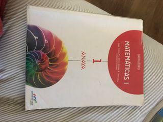 Libro Matematicas I primero de bachillerato