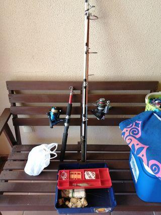 2 Cañas de pescar