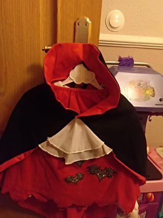 disfraz vampiresa talla 12 a 36 meses