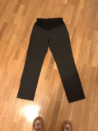 Pantalón embarazada gris con rayas