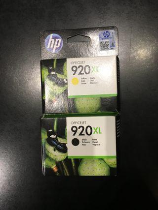 Cartuchos HP Officejet 920 XL negro y amarillo