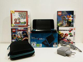 Nintendo 2DS xl + 4 juegos y funda