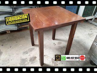 Mesas de madera de 70x70