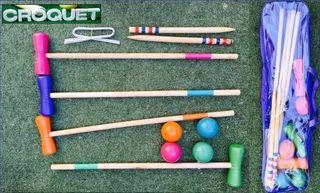 Set de croquet. Juegos. Golf.