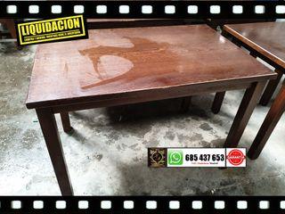 Mesas de madera de 70x100
