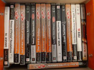PSP con 17 juegos y 1 pelicula