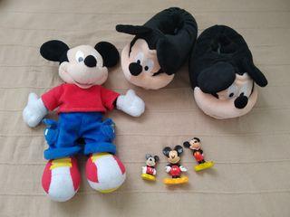 Lote Mickey Mouse - Zapatillas, peluche y muñecos