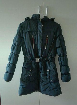 Precioso abrigo azul acolchado, talla XL, Missing