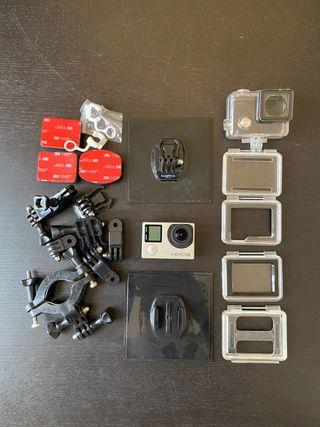 GoPro Hero 4 Silver edition +miniSD 32+Gaccesorios
