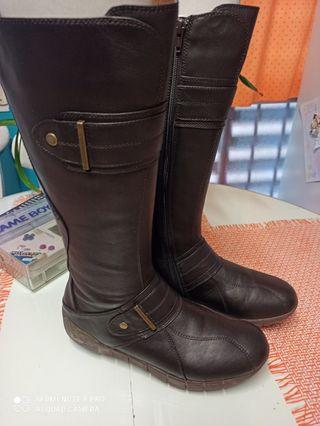 Botas de piel Geox Marrones talla 40