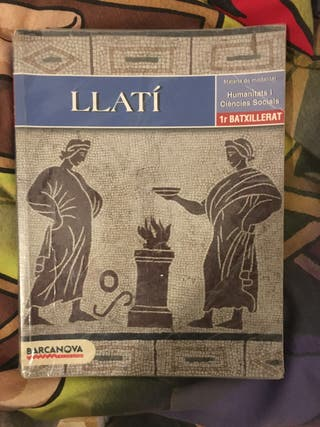 Libro de llatí en catalán de 1 de bachillerato.