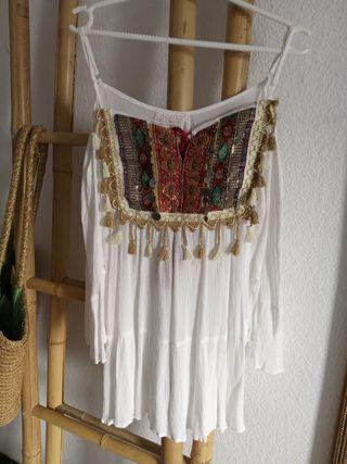 camisa ibizenca con mangas