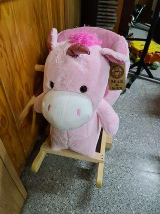 balancin unicornio rosa niña