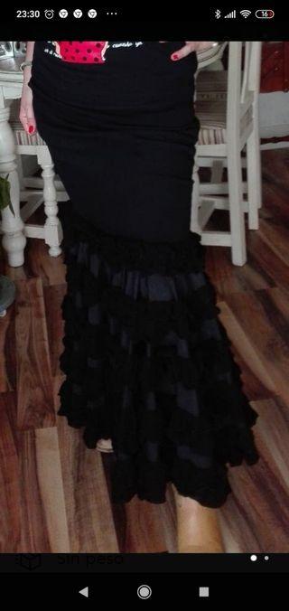 Falda sevillana rociera