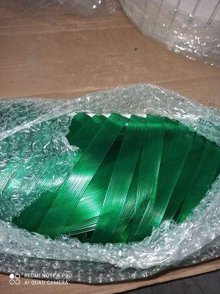 Cortina cinta trasparente verde