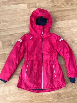 Chaqueta náutica / esquí niño talla 8 color rojo