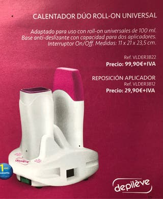 Calentador duo roll-on universal DEPILACION