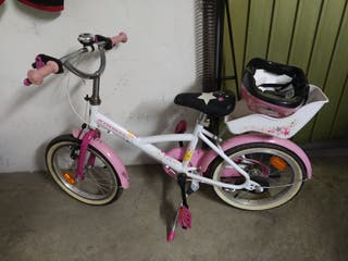 Bici infantil con casco