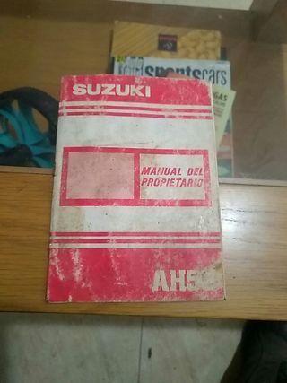 Manual de propietario suzuki ah50