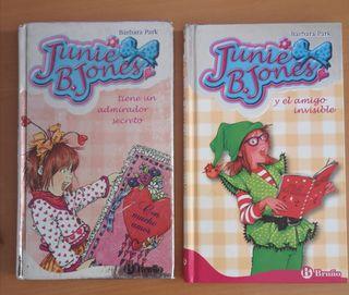 2 libros de Junie B. Jones. A partir 6 años