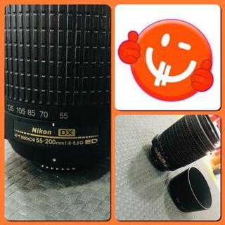 Objetivo Nikon DX AF-S NIKKOR 55-200mm VR