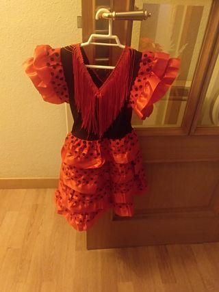 vestido/disfraz sevillanas talla 2 añitos