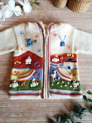 chaqueta Talla 12 / 18 meses manga larga invierno