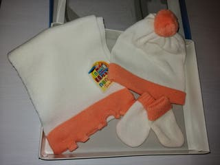 conjunto bufanda bebé
