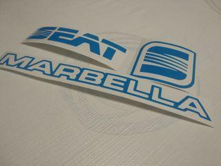 Pegatinas seat marbella azul
