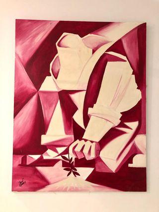 Precioso cuadro pintor alemán 99 x70 cms
