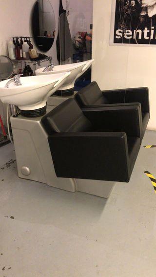 Lavacabezas doble con asientos