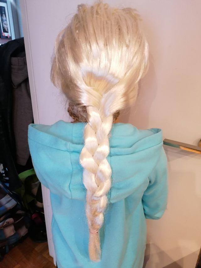 peluca elsa frozen, disfraz