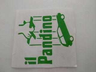 Il pandino adhesivo verde