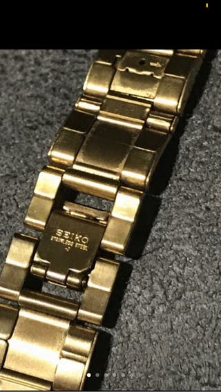 Correa de reloj Seiko con baño de oro