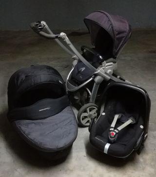 Trio Elea Bebe Confort. Capazo, silla y maxicosi