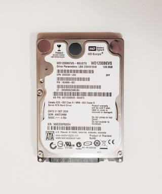 Disco duro 120 GB, HD Western Digital