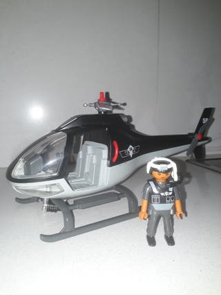 Helicoptero policia playmobil
