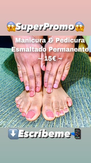 Manicura & pedicura esmaltado permanente