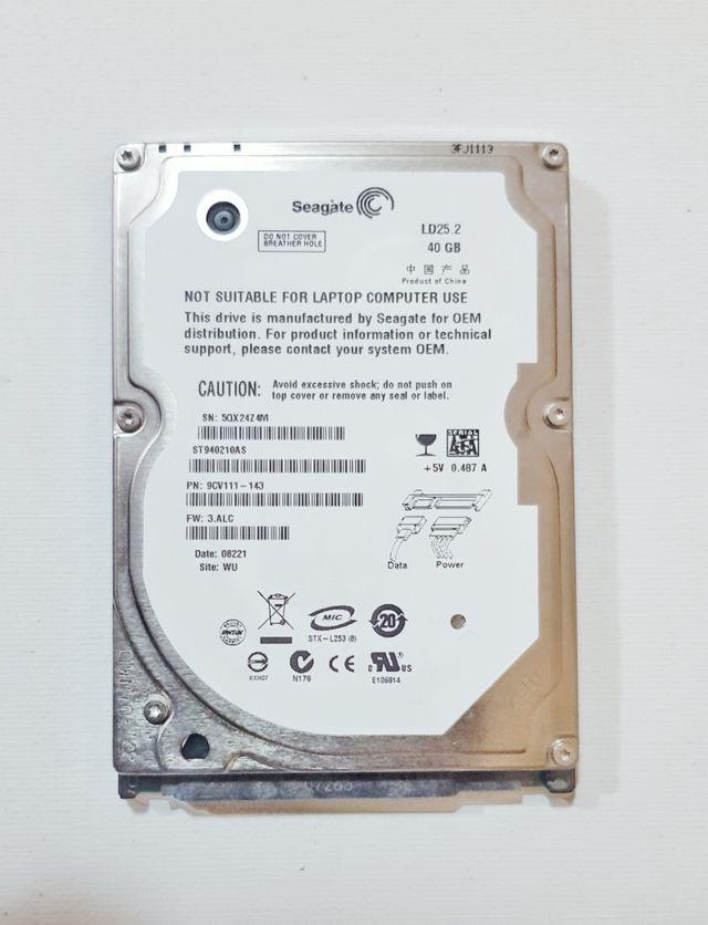 Disco duro 40GB Saegate SATA
