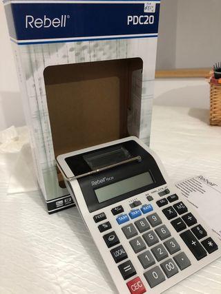 Calculadora impresora ticket + paquete de rollos