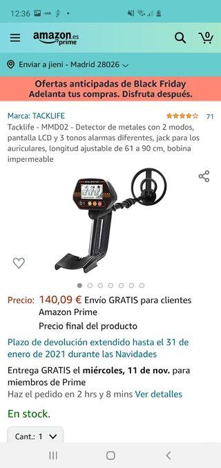 Tacklife - MMD02 - Detector de metales