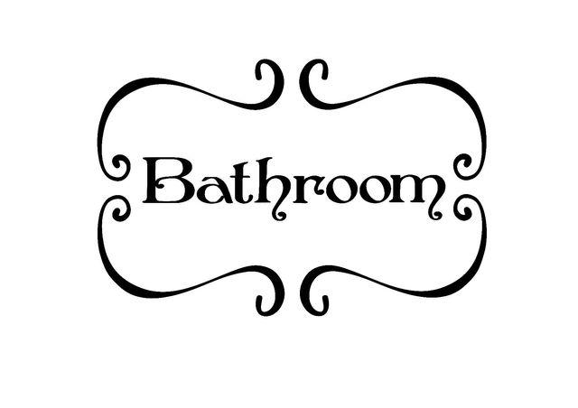 Vinilos decorativos puertas baños aseos