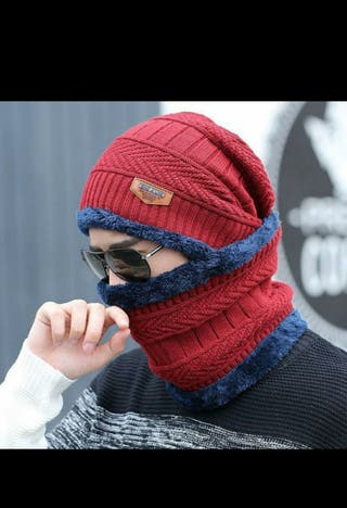 Knitted Scarf Beanies Knit Men'S Hat Caps Skullies