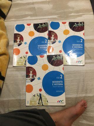 Geografia e historia ESO 2 libros completos