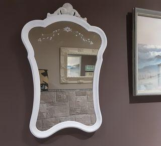 Precioso Espejo muy Antiguo Restaurado