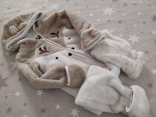 Pijama manta con cremalleta 6-9 meses 74cms